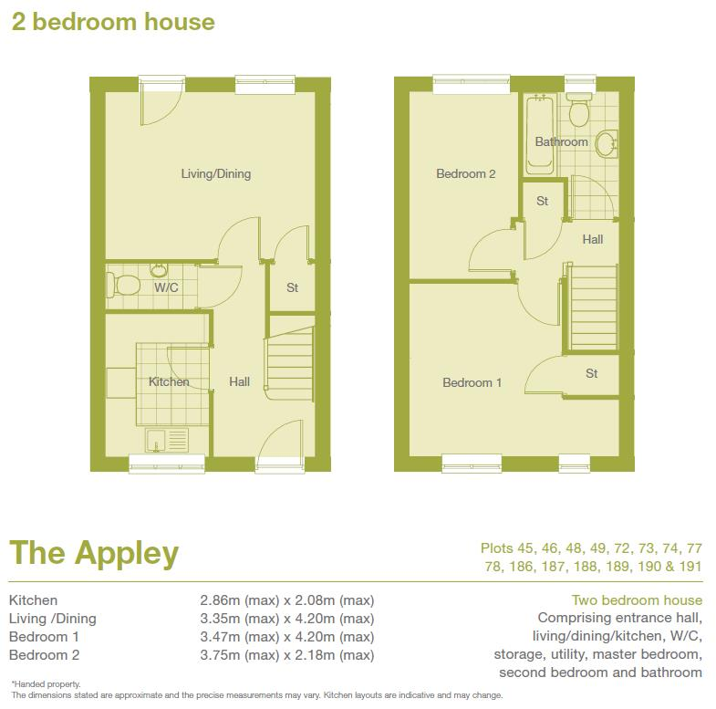 Floorplans For Ludlow Street,, Standish, Wigan, WN6 0QN